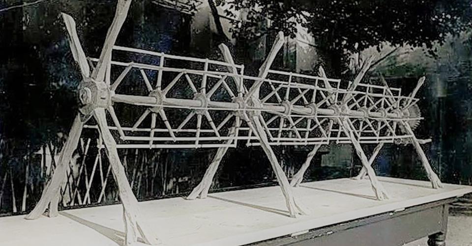 Modello in legno dello Spiedo Gigante - 1956, Memi Zorzi